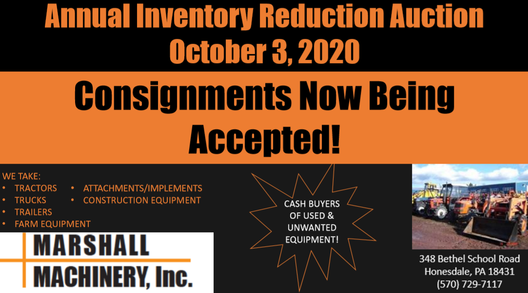 October 2020 Auction Consignment Ad